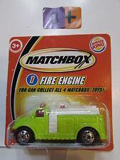 MATCHBOX 2004 BURGER KING - FIRE ENGINE #1 GREEN  - SHORT CARD