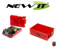 NEW - ModMyPi Red case for Raspberry Pi Model B with GPIO Cut-Outs and Slots.