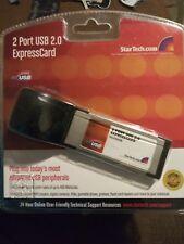 StarTech 2 Port High Speed USB 2.0 34mm ExpressCard Notebook Plug & Play NIP