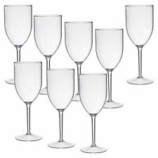 CreativeWare Acrylic Wine Glasses - 8 pc. Set, Clear, 1