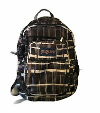 Jansport Purple/Brown Plaid Backpack