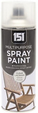 PROFESSIONAL 151 CLEAR LACQUER Paint Spray- Wood/Metal/Walls  400ML
