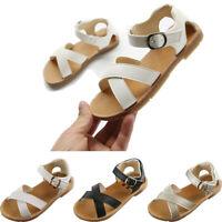 Children Kids Girl Boy Summer Outdoor Soft Cross Sandals Slippers Shoes AU