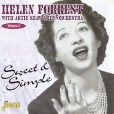 HELEN FORREST & ARTIE SHAW - SWEET AND SIMPLE CD NEUF