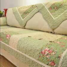 Floral Sofa Covers Couch Cover Pastoral Cotton Quilted Corner Sofa  Pillow Slip