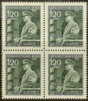 Stamp Germany Bohemia B&M Mi 137 Sc B26 Block 1944 WW2 Dictator Adolf Hitler MNH