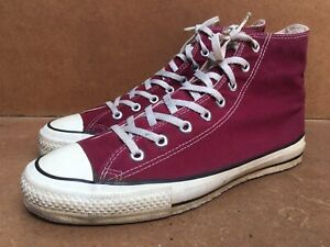 Vintage Rare Chuck Taylor All Star Converse  Maroon Made In USA size 9