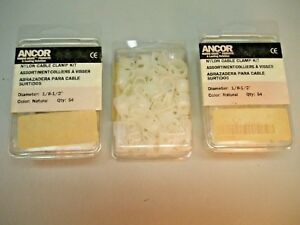"""Anchor Cable Clamps 400000 1/8""""-1/2""""  (Lot of 3 Packs!)"""