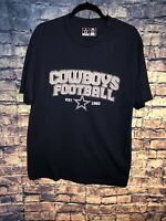 Team Dallas Cowboys NFL Team Apparel Navy Cotton TShirt Men Size Medium