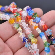 Star Shape Mixed Flower Patterns 8mm 14mm 20mm Millefiori Glass Loose Beads