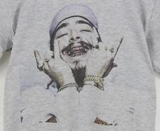 Post Malone Grey T-Shirt S-XXXL Hiphop rap stoney White Iverson lil uzi quavo