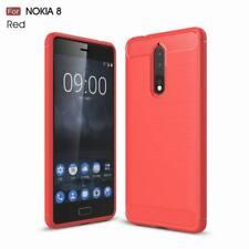 Shockproof Carbon Fiber Hybrid Brushed Soft Rubber Cover Case For Nokia 8 6 5 3