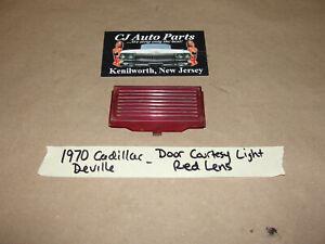 OEM 1970 Cadillac Deville DOOR PANEL INTERIOR COURTESY LIGHT RED LENS