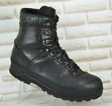 LOWA GoreTex Mens Black Leather Outdoor Hiking Boots Waterproof Size 11 UK 45 EU