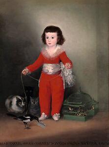 Francisco Goya - Goya's Red Boy, Manuel Osorio Manrique de Zúñiga, Canvas Print