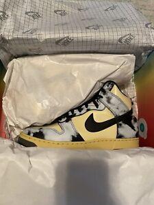 Nike Dunk High 1985 SP Black Acid Wash Lemon Drop Size Men's 10.5