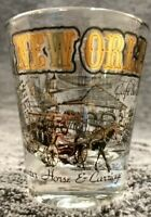 EUC Vintage NEW ORLEANS LOUISIANA LA City Attractions gold and black on clear