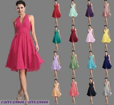 New Short Formal V Neck Cocktail Party Prom Evening Bridesmaid Dresses Size 6-18