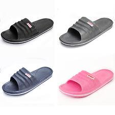 New Ladies Men SlipOn Sport Slide Sandal Flip Flop Shower Shoe Slippers Gym Pool