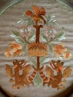 Victorian Needlework Embroidery Scotland England Wales Flowers Dragons 19th C.