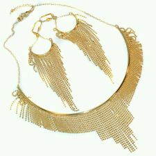 Beautiful  Dressy 18KT 70% GOLD FILLED Necklace and Earing set  MADE IN INDIA
