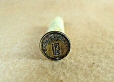 "Antique 19th Century Brass & Bovine Bone ""Time Is Glory"" Wax Seal Stamp"