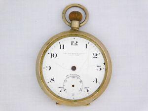 Vintage Halvetia The Fenchurch Lever Nickel Case 7 Jewel Project Pocket Watch