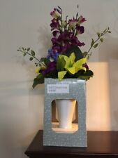 Decorative Vase with Mixed Color Artificial Flowers (Two available)