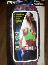 Pro Strength Active Adjustable Waist Band Storage for Phone-Keys Workout/Running