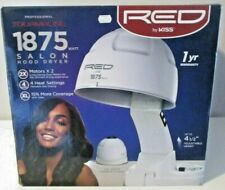 RED by KISS Professional TOURMALINE1875 Watt SALON HOOD HAIR DRYER ~ EUC