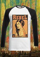 Princess Leia Sexy Rebel Star Men Women Long Short Sleeve Baseball T Shirt 99