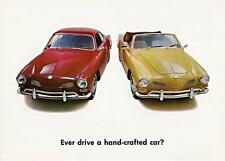 Print.  Red/Mustard 1970 Volkswagen Karmann-Ghia Coupe & Convertible Auto Ad
