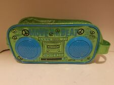 Fydelity Built-In Speaker Zipper Stereo Bag Mp3 iPhone iPod Move To The Beat