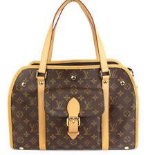 Louis Vuitton Sac Baxter GM Monogram Canvas Dog Pet Carrier Bag #39218