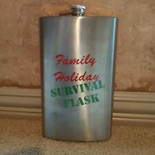 Giant Large Family Holiday Survival Flask Gag 64 oz Stainless Steel