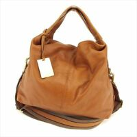 Furla Shoulder bag Brown leather Woman Authentic Used B988