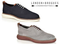 Mens London Brogues Austin Knitted Casual Summer Brogue Lightweight Shoes