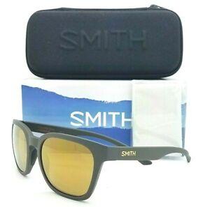 NEW Smith Founder Slim Sunglasses Matte Gravy / Chromapop Gold Mirror AUTHENTIC