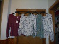 Long Sleeve Square Neck Women's Tops ,XL,L,XS, LC Lauren Conrad Multi Color