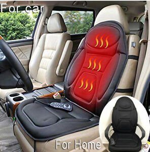 Heated Back Seat Massage Chair Car Home Relax Van Stress Massager Cushion Remote
