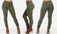 Women Ladies High Rise Skinny Stretch Denim Jeans Trouser Jegging Plus Size 6-22