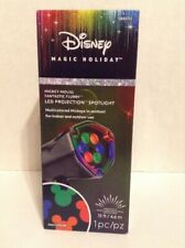 Disney Magic Holiday Mickey Mouse LED Projection Spotlight Multi-Color
