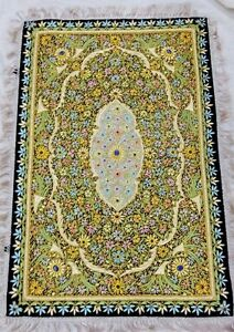 3'x2' Handmade Floral Wall Hanging Jeweled Tapestry Art Zardosi Home Decor H805A