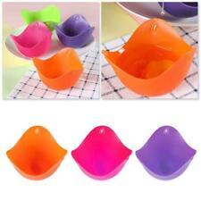 Kitchen Silicone Egg Poacher Poach Pod Pan Poached Mold Cup Random FA U1X7