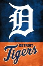 New DETROIT TIGERS Official MLB Team Logo Baseball Wall POSTER