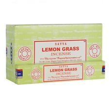 Bulk Buy 3/12 Pack Box 15g Satya LEMONGRASS Nag Champa Incense Insence Sticks