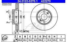 ATE Juego de 2 discos freno Antes 258mm ventilado para CITROEN C4 24.0122-0270.1