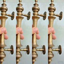 "4 light large DOOR handle pulls solid SPUN brass vintage aged old style 12 "" B"