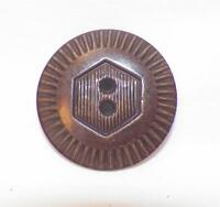 Art Deco Brown Celluloid Button Large Nice Detail Great for Coat Jacket Dress