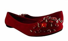 Women Flat Shoes Fashion Spike Studded Rhinestone Design Casual Slip On Style